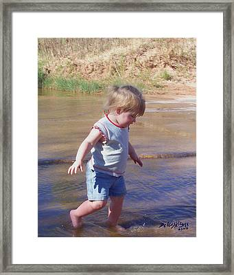 Framed Print featuring the photograph River Wading by Deleas Kilgore
