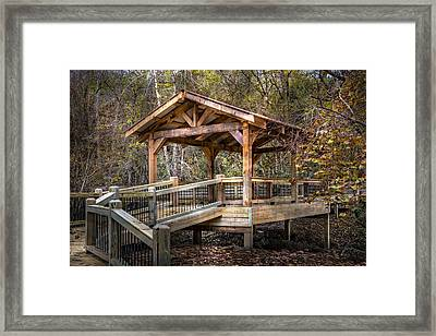 River Walk Covered Bridge Framed Print by Debra and Dave Vanderlaan