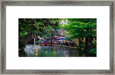 River Walk Dining Framed Print