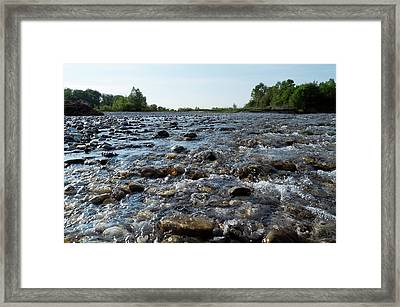 Framed Print featuring the photograph River Walk by Helga Novelli