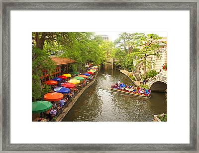 River Walk In San Antonio, Texas Framed Print