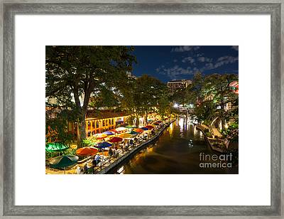 A Night On The River Walk Framed Print by Tod and Cynthia Grubbs