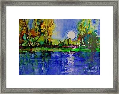 Framed Print featuring the painting River Walk by Priti Lathia