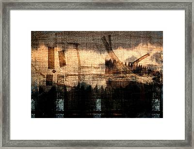 River Walk Shadows Framed Print