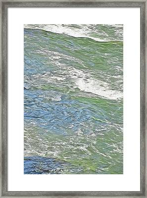 River Water Abstract - Provo Canyon Utah Framed Print by Steve Ohlsen