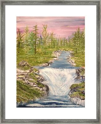 River With Falls Framed Print