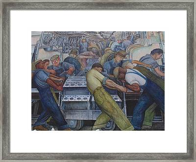 Rivera Industry Mural Framed Print by Dotti Hannum