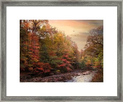 Riverbank Beauty Framed Print by Jessica Jenney