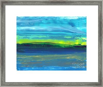 Riverbank Green Framed Print