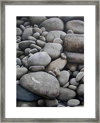 Riverbank Of Napo Framed Print by Laine Garrido