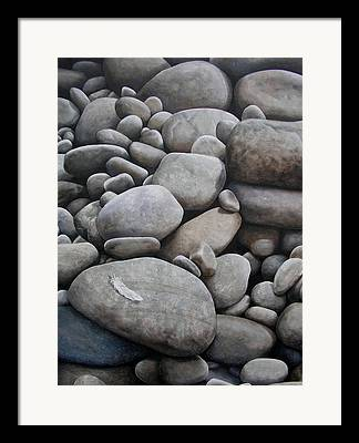 Grey Paintings Framed Prints