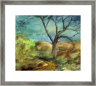 Framed Print featuring the painting Riverbed  by Annette Berglund
