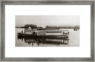 Riverboat  Mayflower Of Plymouth   Susquehanna River Near Wilkes Barre Pennsylvania Late 1800s Framed Print