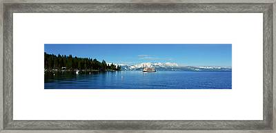 Riverboat On Lake Tahoe, California Framed Print