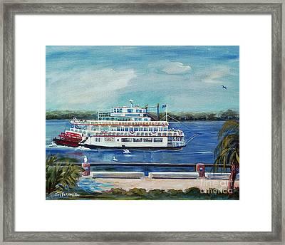 Riverboat Savannah Framed Print