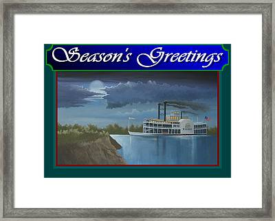 Riverboat Season's Greetings Framed Print by Stuart Swartz
