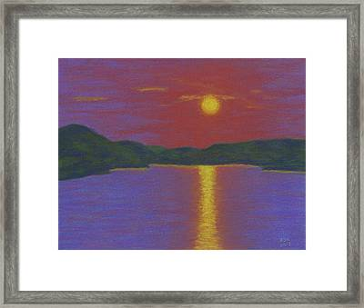 Riverboat Sunset Framed Print