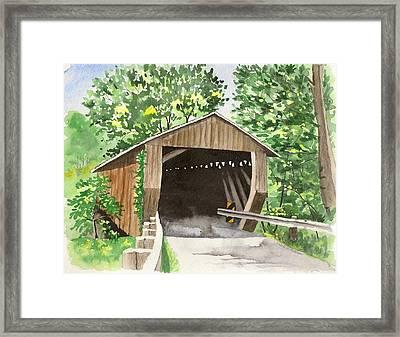 Riverdale Road Bridge Framed Print