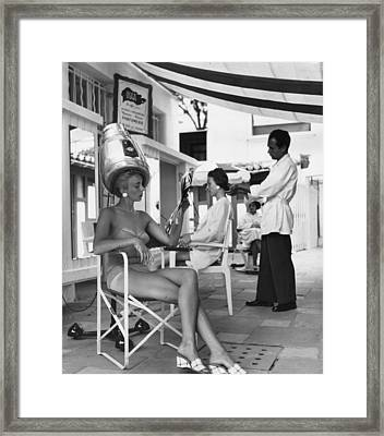 Riveria Hair-do Framed Print by Bert Hardy