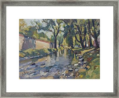 Riverjeker In The Maastricht City Park Framed Print