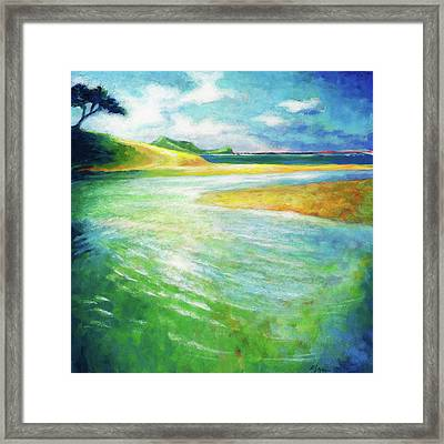 Framed Print featuring the painting Rivermouth by Angela Treat Lyon