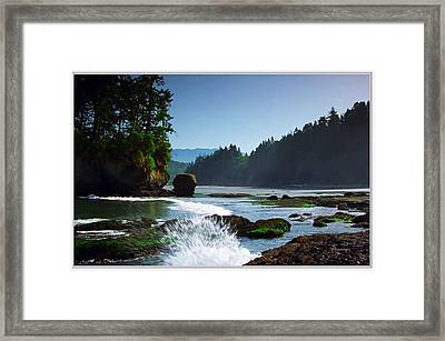 Rivers And Lakes Around Olympic National Park America Framed Print