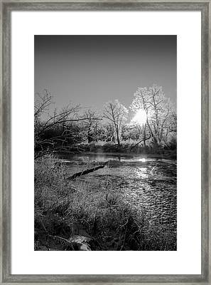 Framed Print featuring the photograph Rivers Edge by Annette Berglund