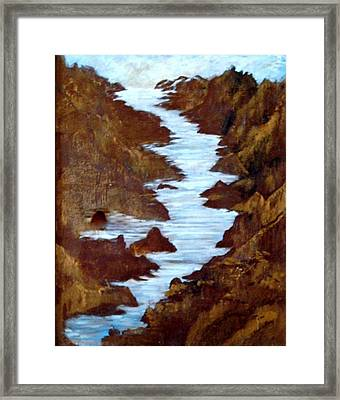 Framed Print featuring the painting Rivers End by Sherri  Of Palm Springs