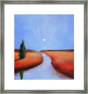 Rivers End Framed Print by Toni Grote