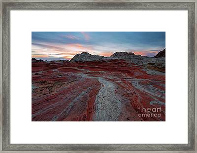 Rivers Of Red Framed Print by Mike Dawson