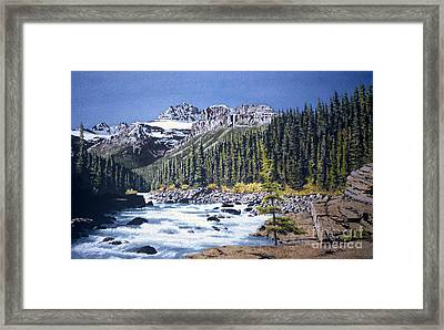 River's Path Framed Print