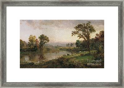 Riverscape In Early Autumn Framed Print