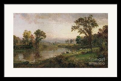 Riverscape - Early Autumn Framed Prints
