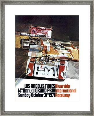 Riverside Can-am Framed Print by Peter Chilelli