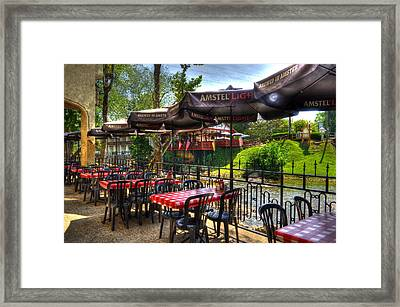 Riverside Patio Framed Print