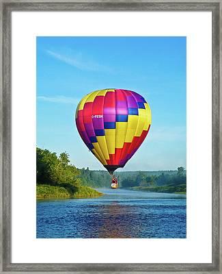 Riverside Stroll Framed Print by Ragina Kakos
