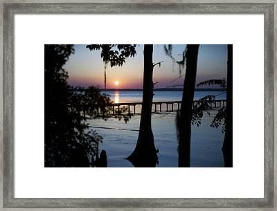 Riverside Sunset Framed Print