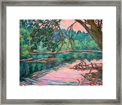 Riverview At Dusk Framed Print