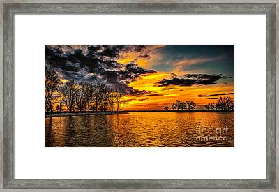 Framed Print featuring the photograph Riverview Beach Park Sunset by Nick Zelinsky