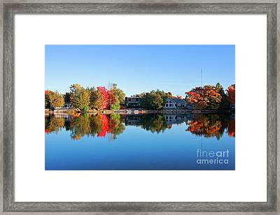 Riverview In Autumn Framed Print