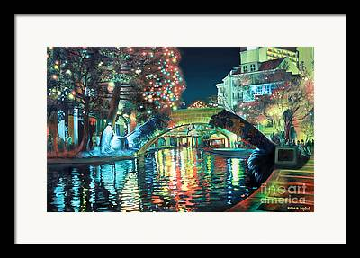 Riverwalk Framed Prints