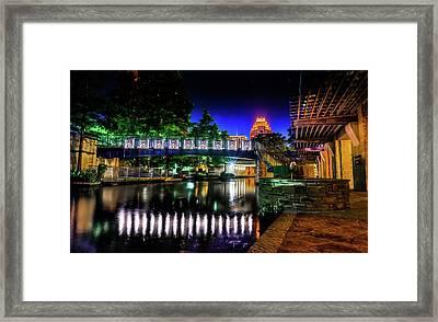 Riverwalk Bridge Framed Print by Mark Dunton