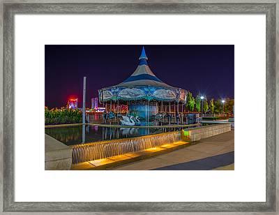 Riverwalk Carousel  Framed Print