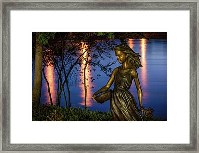Riverwalk Girl Framed Print by James Barber
