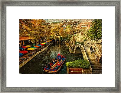 Riverwalk Framed Print by Iris Greenwell
