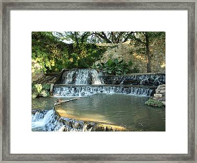Riverwalk Waterfall Framed Print by Dennis Stein