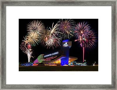 Riverwind Fireworks II Framed Print by Ricky Barnard