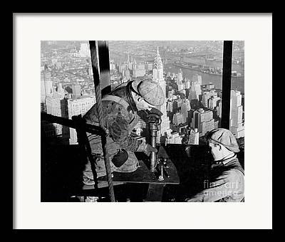 Worker Photographs Framed Prints