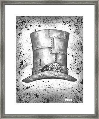Riveting Top Hat Framed Print by Adam Zebediah Joseph