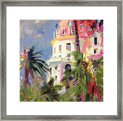 Riviera Balcony Framed Print by Peter Graham